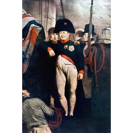 Napoleon Bonaparte N 1769 1821  Emperor Of France 1804 1814 On The Bridge Of Hms Bellerophon At Plymouth England July August 1815 Oil On Canvas 1815 By Sir Chales Lock Eastlake Rolled Canvas Art     1
