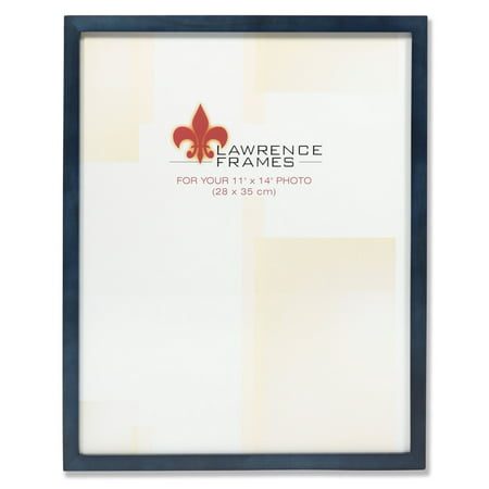 11x14 Blue Wood Picture Frame - Gallery (11x14 Blue Mat)