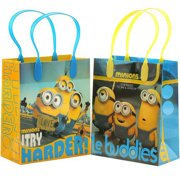 """Minions Le buddies 12 Reusable Party Favors Small Goodie Gift Bags 6"""""""