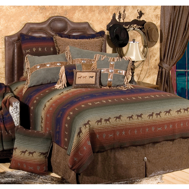 Lone Star Western Decor Mustang Canyon Deluxe Bed Set - S...