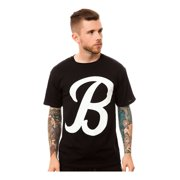 Black Scale Mens The Big B Script Logo Graphic T-Shirt, black, Small