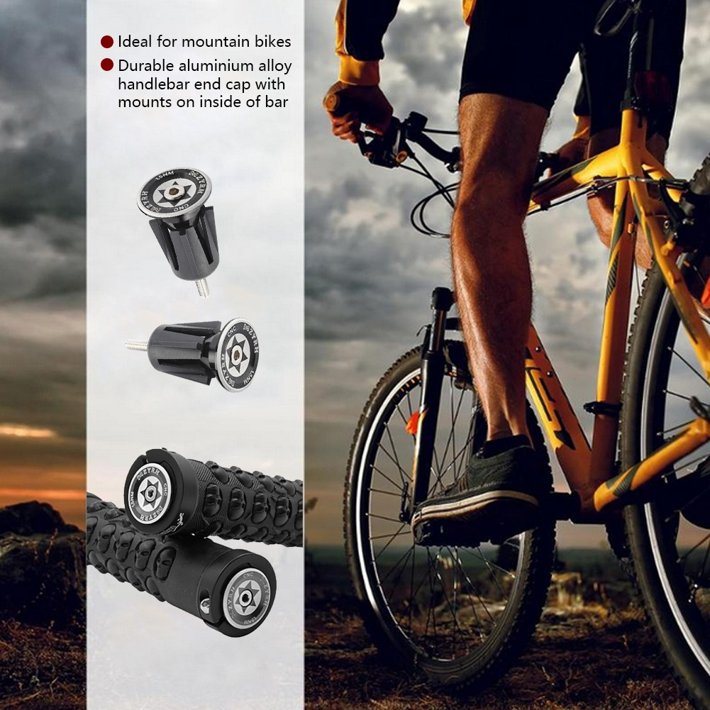 BMX MTB Bike Mountain Bicycle Handle Handlebar End Grips Durable Soft Rubber UK#