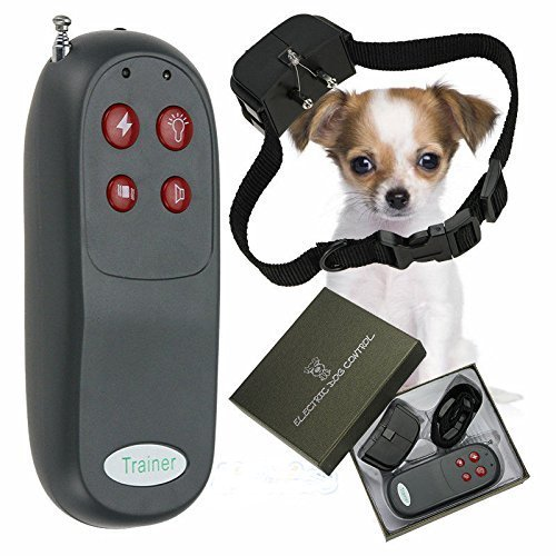 4 In 1 Remote Small/Med Dog Training Shock Vibrate Collar Trainer Safe For Pet By Bark Collars