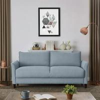 Homesvale DeVeen Flared Arm Storage Sofa In Textured Linen