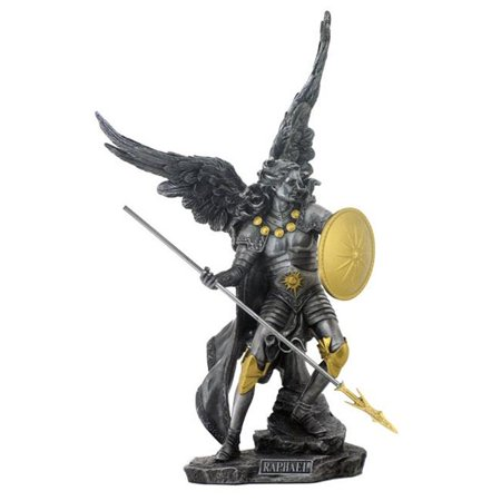 Unicorn Studios WU74697A8 Pewter and Gold Raphael the Archangel Religious Sculpture - image 1 of 1