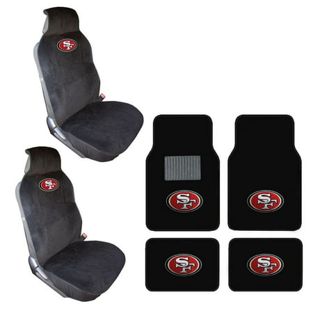 San Fransisco 49ers 4 Carpet Floor Mats And 2 Front Seat Covers