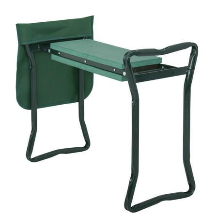 ZENSTYLE Folding Garden Kneeler Bench Kneeling Soft Eva Pad Seat With Stool Pouch