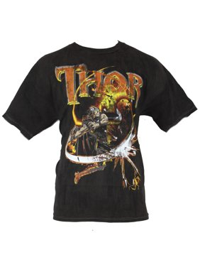 b1f30838 Product Image Thor (Marvel Comics) Mens T-Shirt - Firery Red & Yellow Hammer  Throw