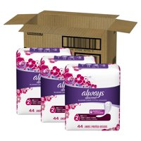 Always Discreet Incontinence Very Light Absorbency Liners, Long Length, 132 ct