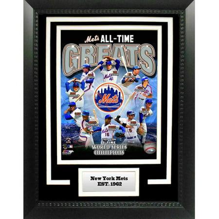 Black American League Frame - MLB New York Mets Greats 11