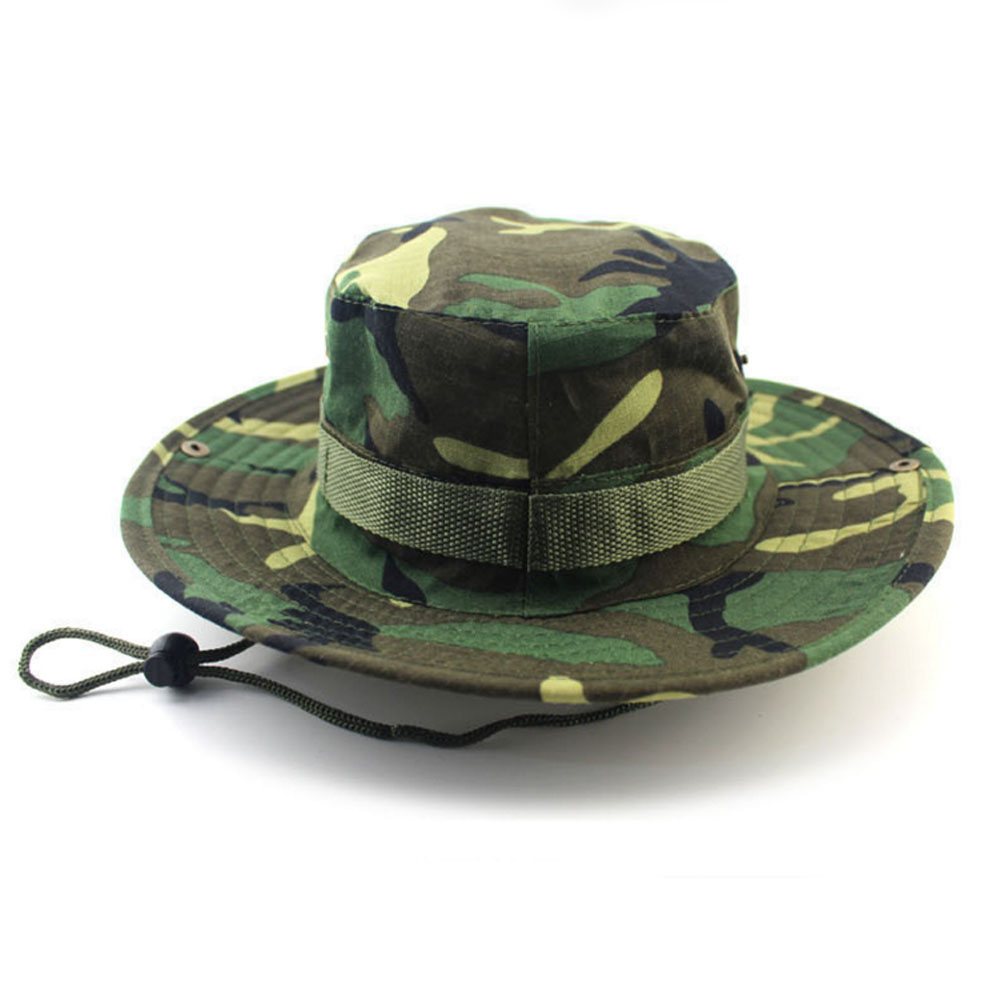 Camouflage Military Style Round Hat black,brown,green etc Camouflage Unisex