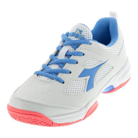 Juniors` S Fly Tennis Shoes White and Iris Blue