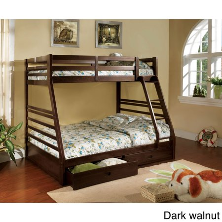 Furniture of America Junior Roomates Contemporary Twin over Full Bunk Bed Set by FOA ()