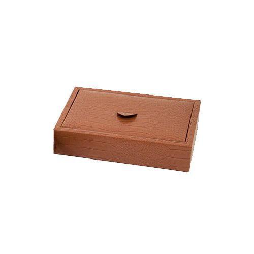 Bey-Berk Croco Accessory Tray