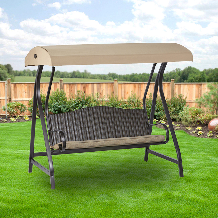 Garden Winds Replacement Canopy Top Cover for the GT Wicker Swing -RipLock 350