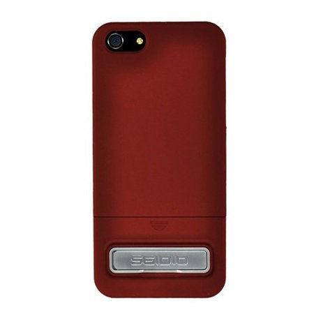 Seidio CSR3IPH5K-GR Surface Case with Metal Kickstand for Apple iPhone 5 - 1 Pack - Retail Packaging - Garnet Red
