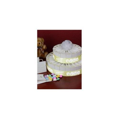 Orbitel PS2-702 2 Tier Baby Shower Favor Cake Kit - Welcome Baby