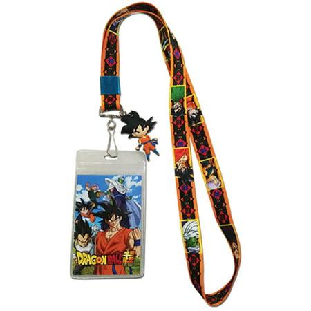 DragonBall Z Dragon Ball Super Group Key Art Lanyard with ID Badge Holder & Goku Charm - Badge Holder Lanyard