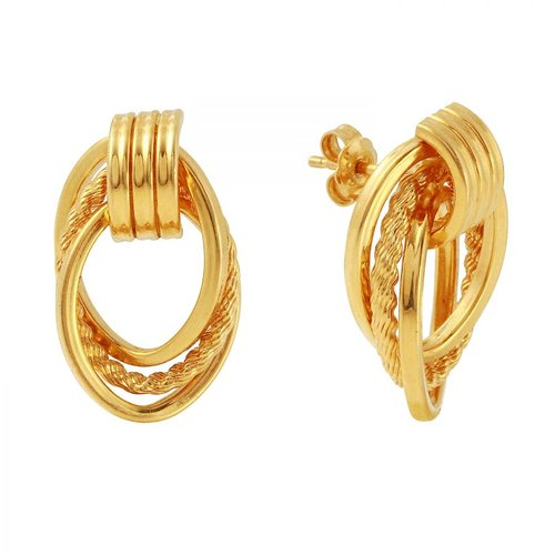 Foreli 14k Yellow Gold Earrings Walmart Com