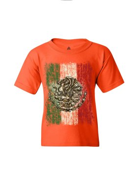23709cdba85b8 Product Image Shop4Ever Youth Flag of Mexico Mexican Cinco de Mayo Graphic  Youth T-Shirt