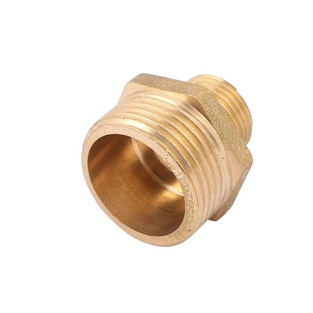 3/4BSP to 3/8BSP Male Thread Brass Pipe Hex Nipple Fitting Quick Adapter