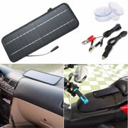 5W Solar Panel with Battery Clips for 12V Car Home Camping Boat Battery Charger US