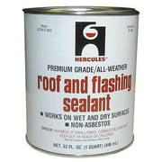 HERCULES 25405 Roof Flashing Sealant,Black,1 Qt