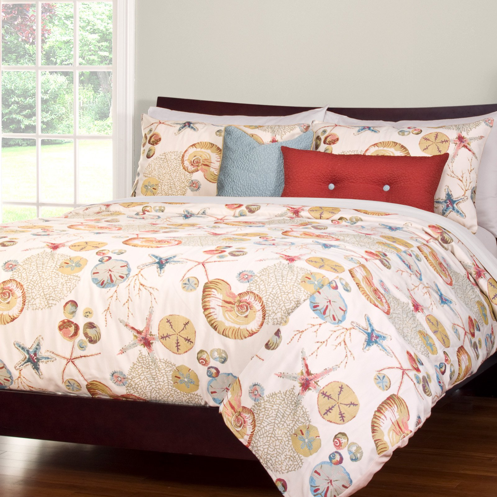 Naples Coral Duvet Set by Siscovers