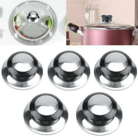 Pot Lid Handle,Zerone 5Pcs Heat-Resistant Pot Pan Lids Knob Lifting Handle Home Kitchen Cookware Replacement Parts