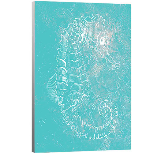Artzee Designs 'Modern Tropical Seahorse 1' Graphic Art on Wrapped Canvas