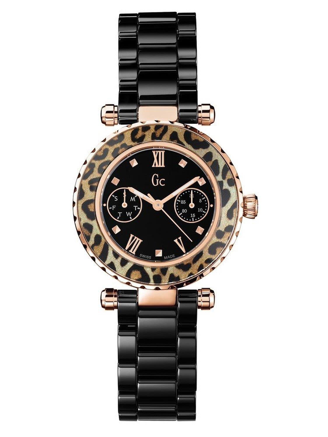 Collection Women's 34mm Black Ceramic Band Steel Case Sapphire Crystal Quartz Analog Watch X35016L2S