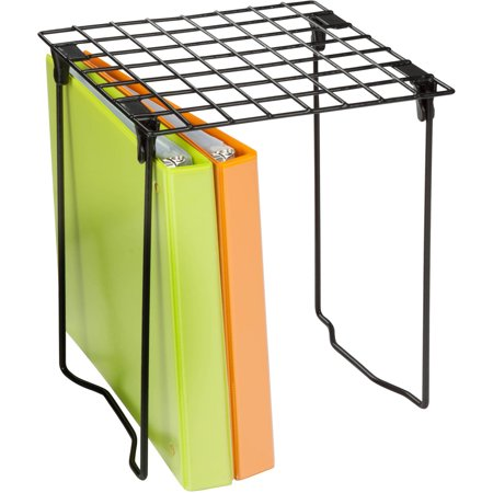 Honey Can Do Stackable Steel Folding Locker Shelf, Black (Tall Locker Shelf)