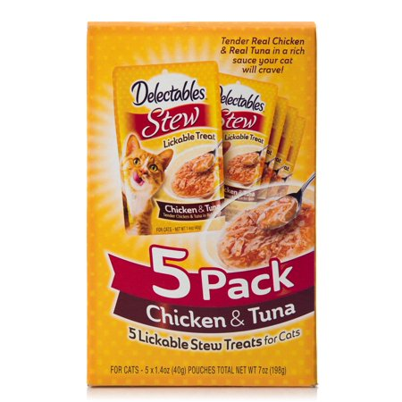 (6 pack) Delectables Lickable Cat Treats, Stew Chicken & Tuna, 5 Count (1.4 oz. Tubes)