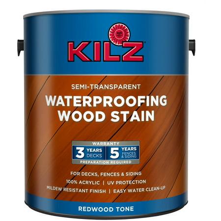 Kilz semi transparent exterior wood stain gallon redwood - Best exterior wood stain reviews ...