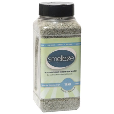 SMELLEZE Natural Yard Odor Remover Deodorizer: 2 lb. Granules Eliminates Outdoor (Best Smoke Smell Remover)