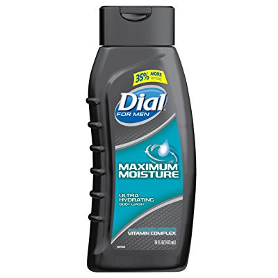 dial for men body wash, maximum moisture, 16 ounce