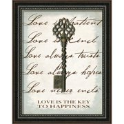 Carpentree Love is the Key Framed Graphic Art
