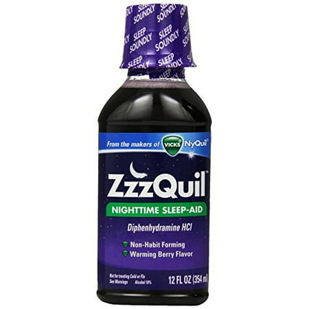 ZzzQuil Nighttime Sleep-Aid Liquid Warming Berry Flavor 12 Fl