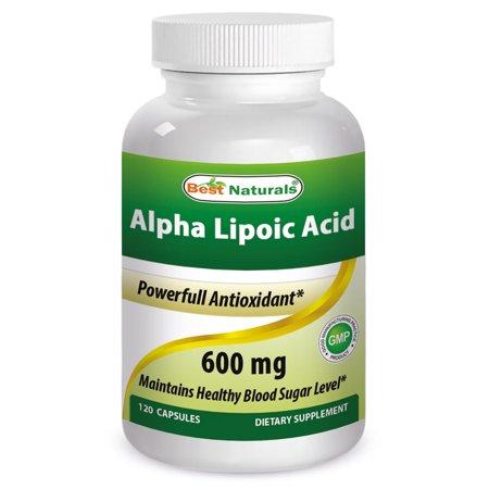 Best Naturals Alpha Lipoic Acid 600 mg 120 Ctules