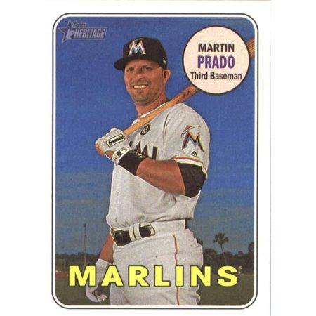 2018 Topps Heritage #137 Martin Prado Miami Marlins Baseball Card