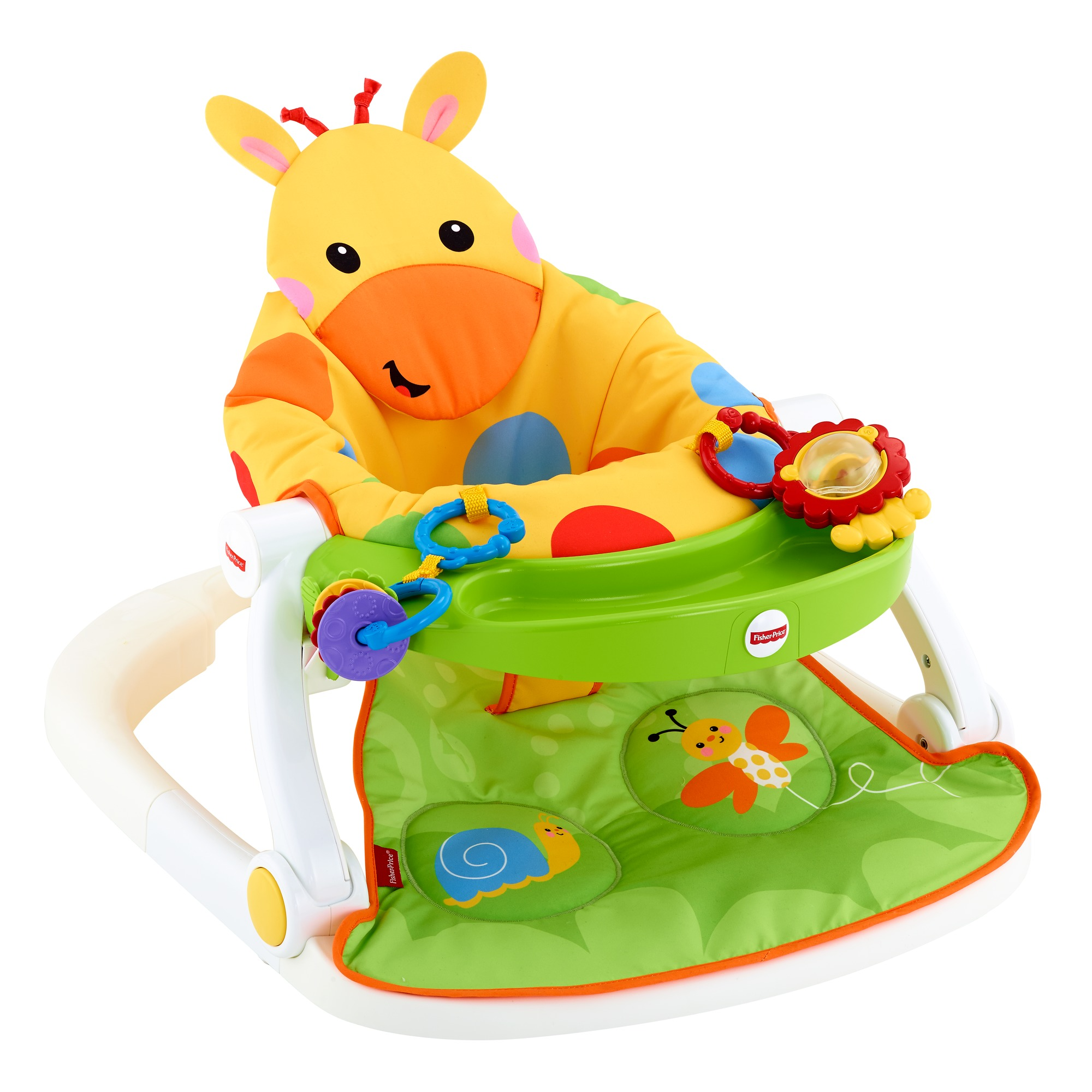 Fisher-Price Sit-Me-Up Floor Seat with Tray - Giraffe  sc 1 st  Walmart & Fisher-Price Sit-Me-Up Floor Seat with Tray - Giraffe - Walmart.com