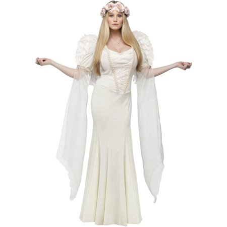 Fun World Womens Angel Christmas Adult Halloween Costume + Wings (Fun Halloween Costumes For Groups)
