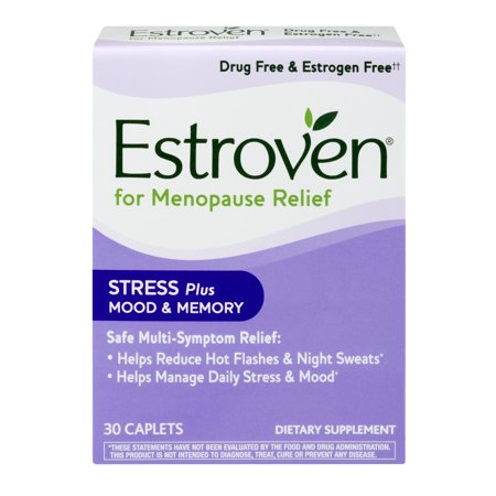 Estroven For Menopause Relief Stress Plus Mood   Memory Dietary Supplement Caplets   30 Ct