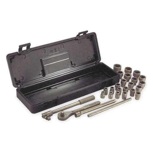 "Ampco 1/2"" Drive, Socket Wrench Set, W-260M"