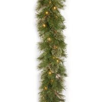 "National Tree 9' x 10"" Atlanta Spruce Garland with 50 Clear Lights"