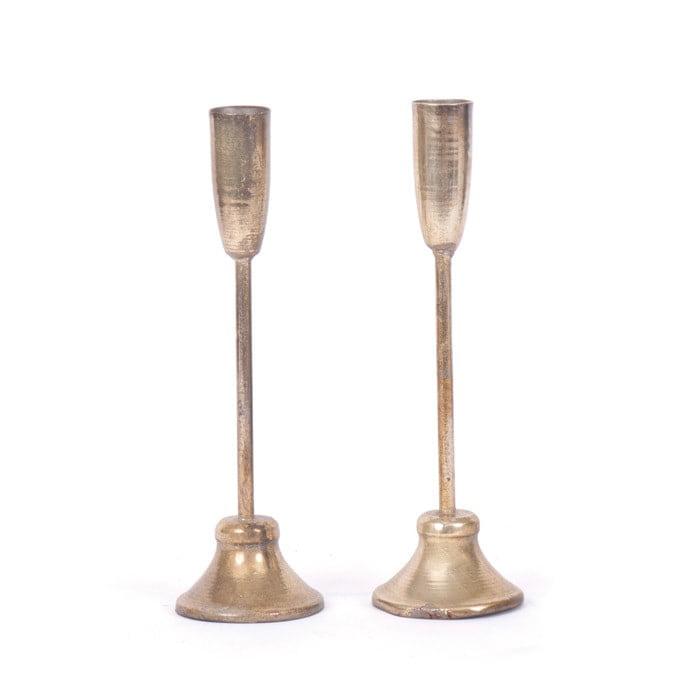 Short Champaign Candlesticks