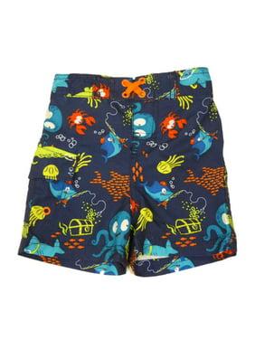 c9c20e756b Product Image Joe Boxer Infant & Toddler Boys Blue Fish & Octupus Swim  Trunks Board Shorts 24m