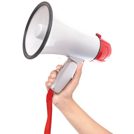 Portable Megaphone 20 Watt Power Bullhorn Voice Siren/Alarm Modes W/ Strap](Megaphones For Sale)