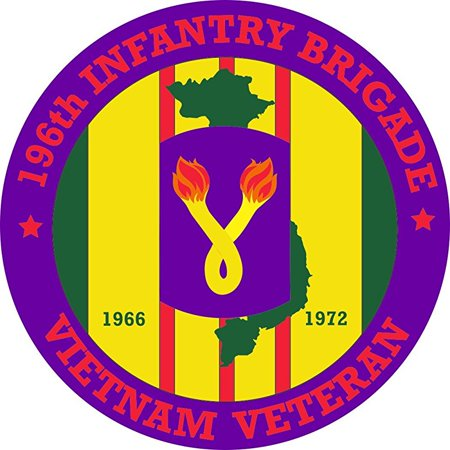196th Light - MAGNET 196th Light Infantry Brigade Vietnam Veteran 5.5 Inch Magnetic Sticker Decal