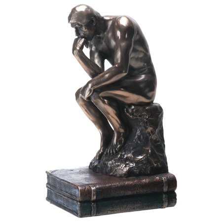 YTC Summit Collection The Thinker Male Statue Figurine Bronze Color